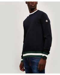 Moncler Knit Sweater With Mesh Side - Blue
