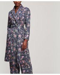 Liberty Delilah Tana Lawn Cotton Long Robe - Blue