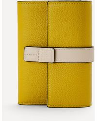 Loewe Small Vertical Leather Wallet - Yellow