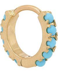 "Maria Tash - 1/4"" Natural Turquoise Eternity Earring - Lyst"
