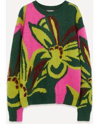 Dries Van Noten Oversized Floral Knit Jumper - Multicolour
