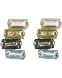 Suzanne Kalan - Gold Gemstone Stud Earrings - Lyst