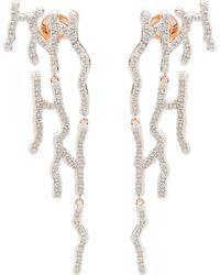 Monica Vinader Rose Gold Vermeil Riva Waterfall Diamond Cocktail Earrings - Metallic