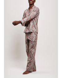 Liberty Felix And Isabelle Tana Lawn Cotton Long Pajama Set - Multicolor