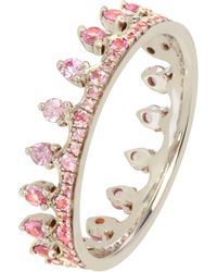 Annoushka 18ct White Gold Pink Sapphire Crown Ring - Multicolour