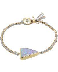 Brooke Gregson - Gold Ellipse Boulder Opal Silk Chain Bracelet - Lyst