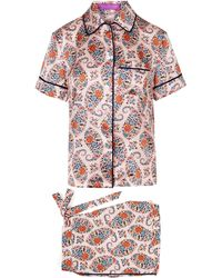 Liberty - Florence Evelyn Silk Satin Short Pyjama Set - Lyst