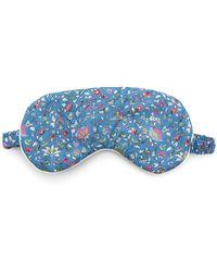 Liberty Imran Tana Lawn Cotton Eye Mask - Blue