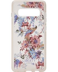 Liberty X Tech21 Pure Print Delphine Samsung 10s+ Case - Pink