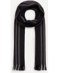 Nick Bronson Herringbone Stripe Wool Scarf - Black