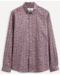 Liberty - Ragged Robin Cotton Twill Casual Button-down Shirt - Lyst
