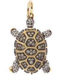 Annoushka 18ct Gold Mythology Diamond Baby Turtle Pendant - Metallic