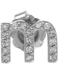 KC Designs | Rose Gold Diamond N Single Stud Earring | Lyst