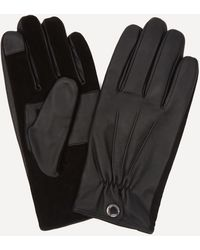 Dents Esher Suede Touchscreen Leather Gloves - Black