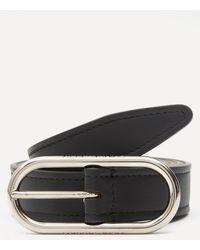 Acne Studios Logo Buckle Leather Belt - Black