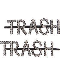 Ashley Williams Trash Crystal Hair Pins - Metallic