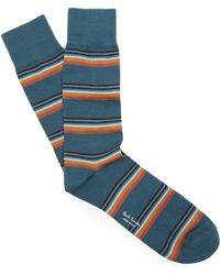 Paul Smith - Artist Block Stripe Socks - Lyst