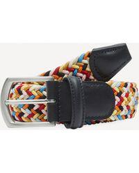 Andersons Tricolour Melange Zig Zag Woven Belt - Multicolour