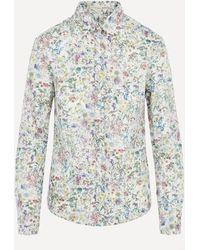 Liberty Wild Flowers Tana Lawn' Cotton Camilla Shirt - Green