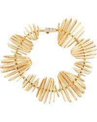 Annoushka 18ct Gold Garden Party Diamond Bracelet - Metallic