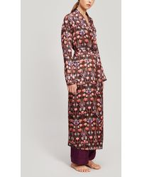 Liberty Virginia Silk Charmeuse Robe - Black