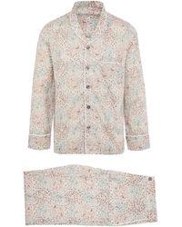 Liberty Jess And Jean Tana Lawn Cotton Long Pyjama Set - Green