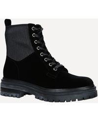 Gianvito Rossi Martis 20 Velvet Ankle Boots - Black