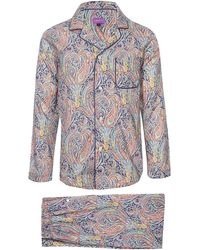 Liberty - Felix And Isabelle Long Cotton Pyjama Set - Lyst