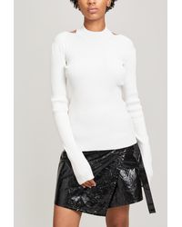 Helmut Lang Ribbed Open Back Pullover - Multicolour