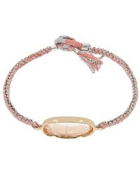 Brooke Gregson Gold Icicle Morganite Silk Chain Bracelet - Metallic