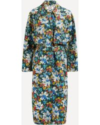 YMC Siouxie Floral Trench Coat - Multicolour