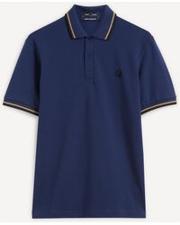 Fred Perry M12 Twin-tipped Shirt - Blue