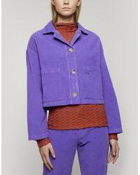 Paloma Wool Spa Square-fit Corduroy Jacket - Purple