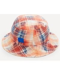 Acne Studios Organic Cotton Flannel Bucket Hat - Multicolour
