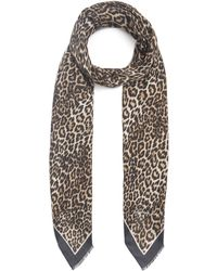 Lily and Lionel Wild Cat Modal-blend Scarf - Brown