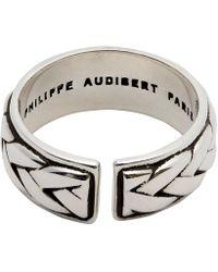 Philippe Audibert Fillan Lattice Adjustable Ring - Metallic