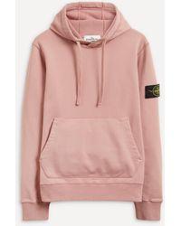 Stone Island Cotton Pocket Hoodie - Pink