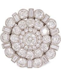 Kojis - Platinum Tiffany Diamond Cluster Ring - Lyst