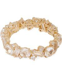 Suzanne Kalan - Gold White Topaz Diamond Eternity Ring - Lyst