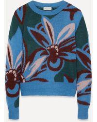 Dries Van Noten Floral Knit Sweater - Multicolor