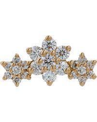 Maria Tash - Diamond Flower Garland Threaded Stud Earring - Lyst