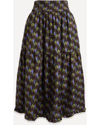 Shrimps Coco Grape Print Skirt - Black