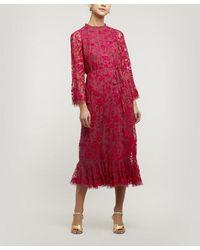 Needle & Thread Demetria Midaxi Dress - Red