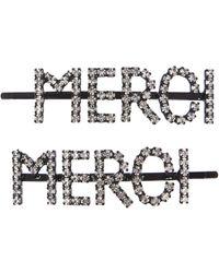 Ashley Williams Merci Crystal Hair Pins - Metallic