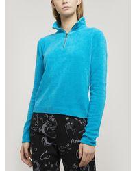 Paloma Wool Baco Half-zip V-neck Jumper - Blue