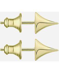 Shaun Leane Small Gold Plated Vermeil Silver Rose Thorn Studs - Metallic
