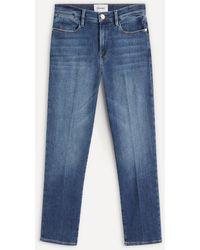 FRAME Le High Straight Jeans - Blue