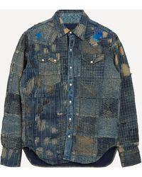 Kapital Nora X Kaya Boro Western Shirt - Blue