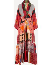 Rianna + Nina One Of A Kind Volant Kimono - Red