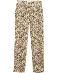 Paloma Wool Muchacho People Print High-waist Trousers - Natural